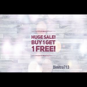 Buy 1 get 1 FREE! Anything $15 and under!